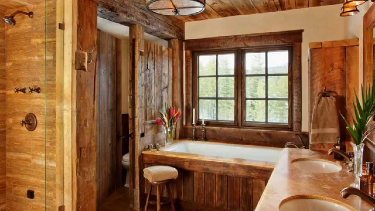 Деревянный дом интерьер в стиле кантри